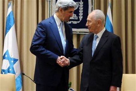 Kerry and President Peres