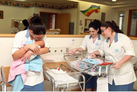 National service in a maternity ward