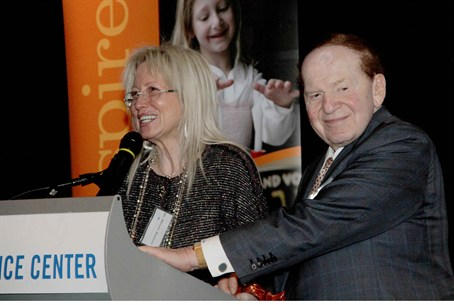 Dr. Miriam and Sheldon Adelson at a Birthrigh