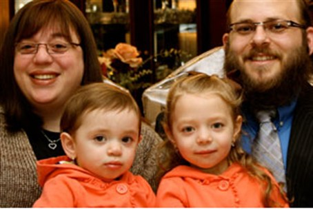 Rabbi Stern and part of his family
