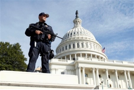 Guard looks out for terrorists at Capitol