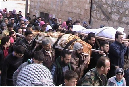 Funerals for Free Syrian Army soldiers