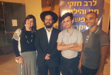 Chabad emissaries with actors