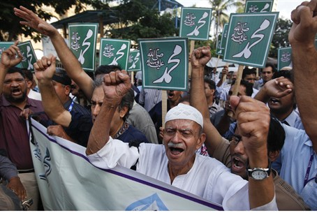 Islamic protests in Pakistan (file)