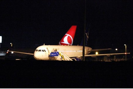 Syrian passenger plane after being forced to
