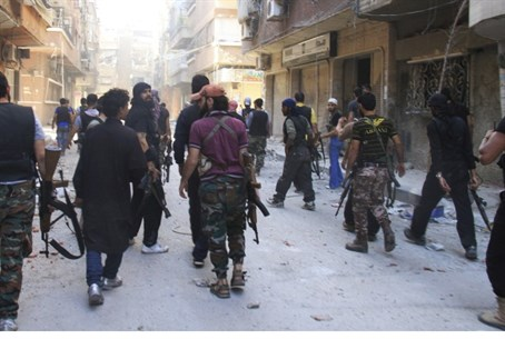 FSA fighters in Yarmouk camp