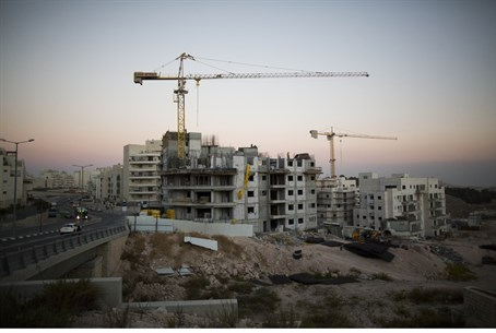 Construction in the Jerusalem suburb of Har H