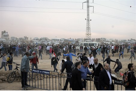 Riot over Negev land plan