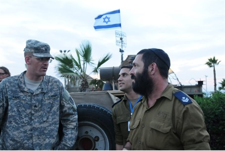 Israeli and American soldiers
