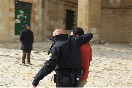 Arrest on the Temple Mount