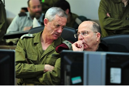 Defense Minister Moshe Yaalon with IDF Chief