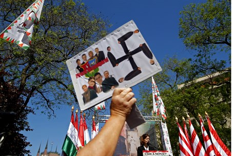 Jobbik supporters attend party rally, May 201