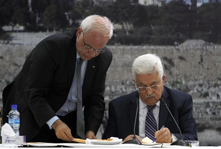 Abbas signs requests to join conventions