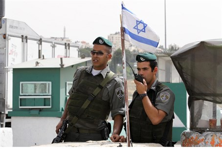 IDF soldiers at checkpoint