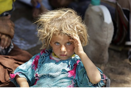 Yazidi refugees in Iraq (file)