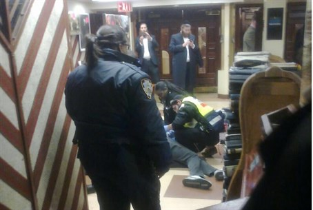 770 Chabad center after stabbing (file)