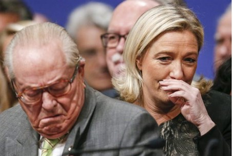 Jean Marie (L) and Marine Le Pen