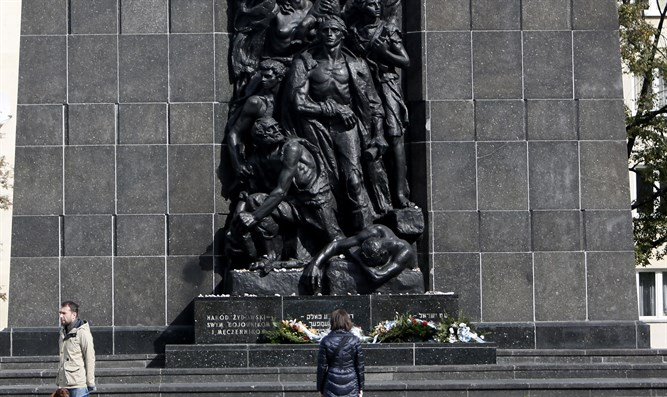 Ghetto Heroes Monument in Warsaw, Poland