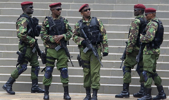 Kenyan counter-terrorism forces in Nairobi