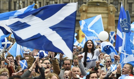 Pro-Scottish independence rally in Glasgow