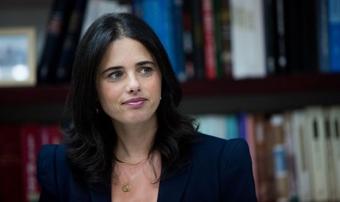 Minister of Justice Ayelet Shaked argued for applying Israeli law to Israeli communities in Judea an