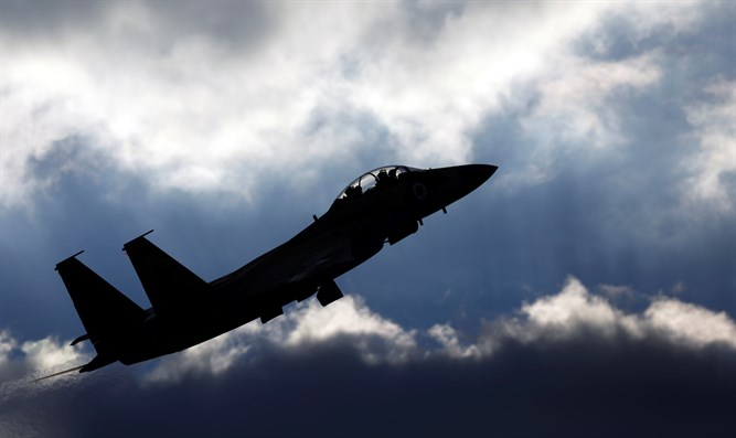 Israeli Air Force F-15 fighter jet flies during an aerial demonstration
